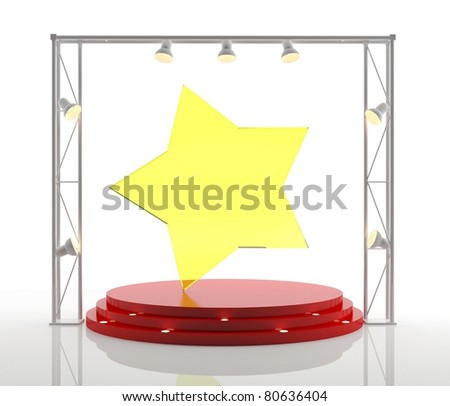 Podium isolated on white. 3D success concept - stock photo