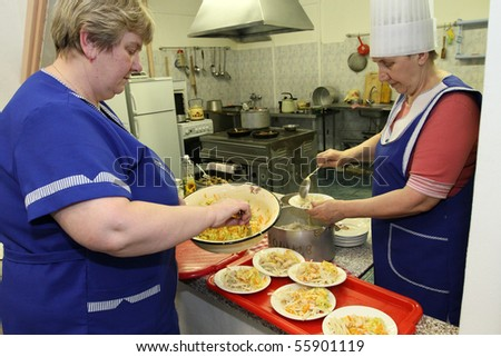 PODPOROZHYE, RUSSIA - JUNE 4: Day of Health in Center of social services for pensioners and the disabled Otrada, June 4, 2010 in Podporozhye, Russia. - stock photo