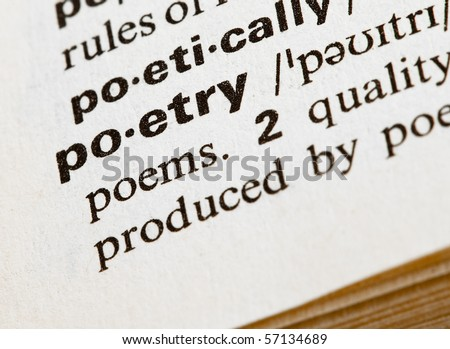 poetry - stock photo