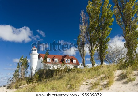 Point Betsie Light - stock photo