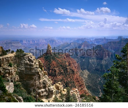Point Imperial, Grand Canyon National Park, Arizona, North Rim - stock photo