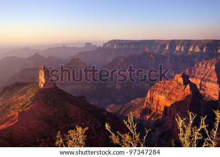 Point Imperial, Grand Canyon North Rim - stock photo