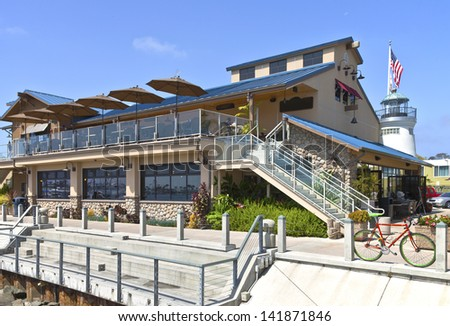 Point Loma Seafoods and cafe restaurant San Diego California. - stock photo