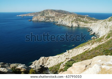 Point of the Revellata, Calvi, Corsica, France - stock photo