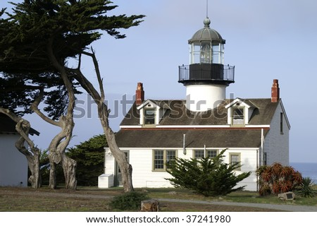 Point Pinos Lighthouse Museum, Pacific Grove, California - stock photo