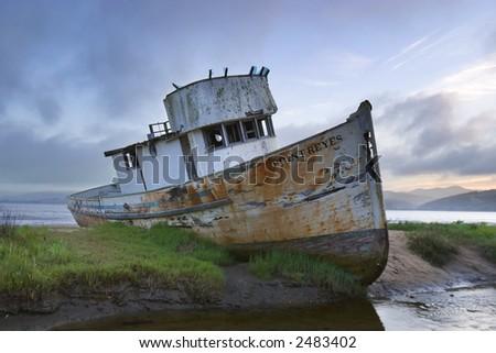 Point Reyes Boat - stock photo