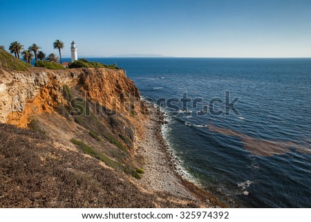 Point Vicente in Rancho Palos Verdes, Los Angeles, California. Beautiful landscape - stock photo
