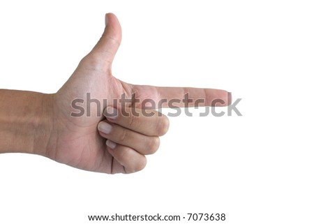 Pointing - stock photo