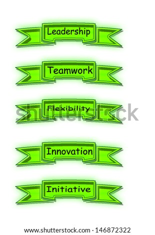 Points of business practices that lead to success - stock photo