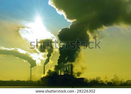 Poison gas - stock photo