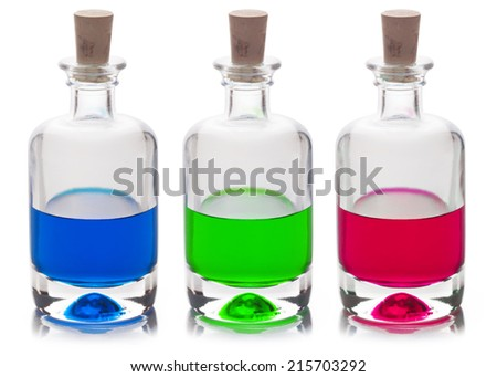 Poison in a glass flask isolated on a white background - stock photo