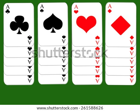 Poker background - stock photo