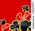 Poker background with symbols of cards for design. Vector version also available in gallery - stock photo