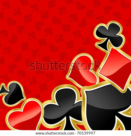 Poker background with symbols of cards for design. Vector version also available in gallery