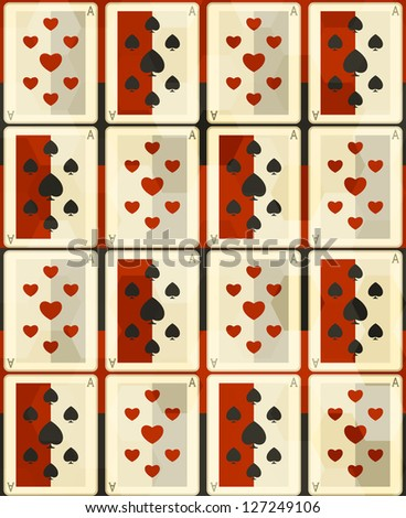 poker cards seamless (raster version)