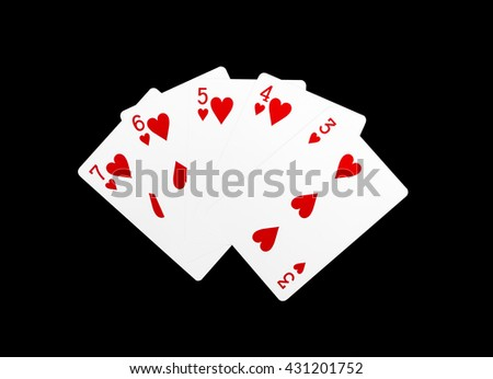 Poker cards, Straight Flush