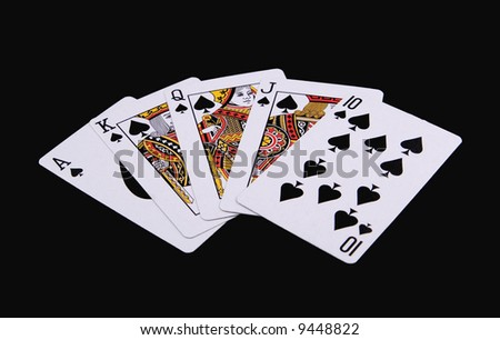 Poker Hand - Royal Flush - stock photo