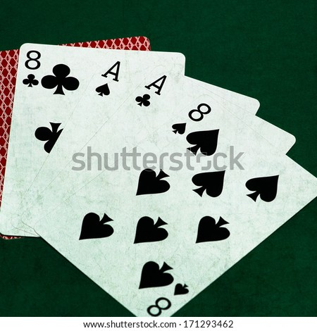 pictures of aces and eights cards