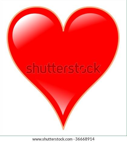 poker heart - stock photo