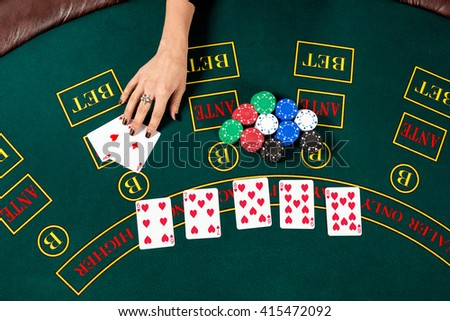 Poker play. Cards - stock photo