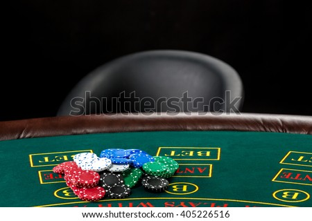 Poker play. Chips  - stock photo