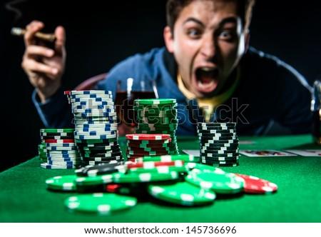 Poker player - stock photo