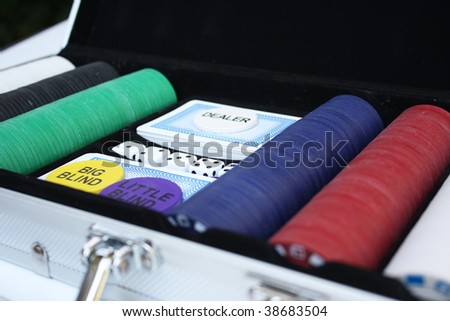 Poker set - stock photo