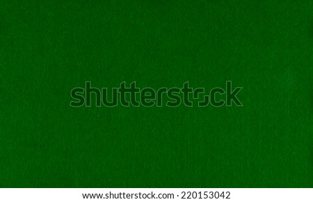 poker table green beize - stock photo