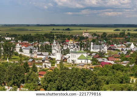 Pokrovskiy monastery in Suzdal.The Golden Ring of Russia. - stock photo