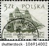 POLAND - CIRCA 1963: A stamp printed in the Poland shows Clipper ship trade, one stamp from series, circa 1963 - stock photo
