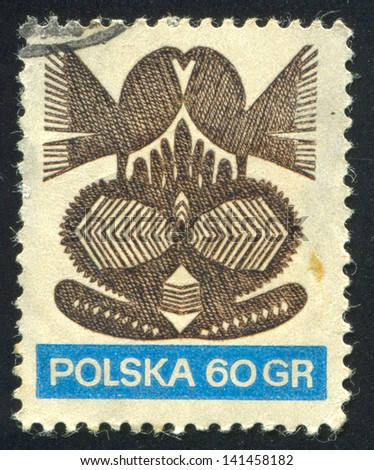 POLAND - CIRCA 1953: stamp printed by Poland, shows bird, circa 1953