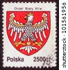 POLAND - CIRCA 1992: The stamp printed in Poland shows the stamp of tax collection, circa 1992. Emblem  of Poland with the image of a white eagle XV century. - stock photo