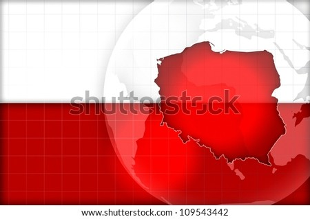 poland flag and map background illustration