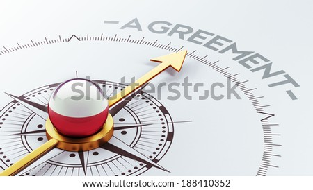Poland High Resolution Agreement Concept - stock photo