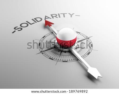Poland High Resolution Solidarity Concept - stock photo
