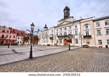 Poland - Plock, city in Masovia (Mazowsze) region. Main square.