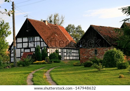 Poland, rural cottage in Swolowo - stock photo