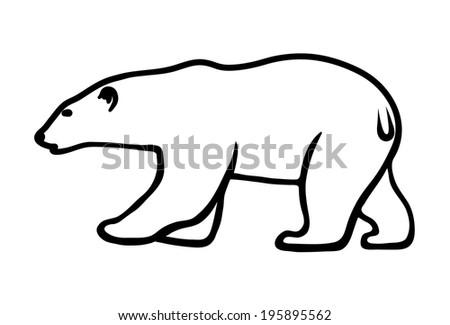 polar bear on a white background - stock photo
