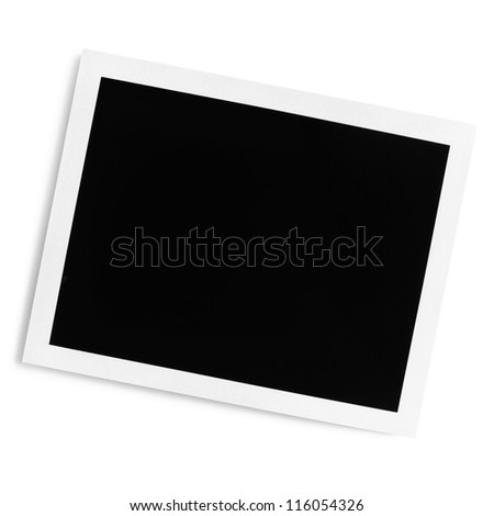 Polaroid Blank Frame over white Background With Clipping Path - stock photo
