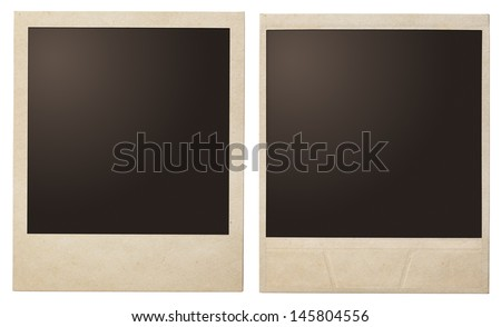 polaroid photo frames isolated - stock photo