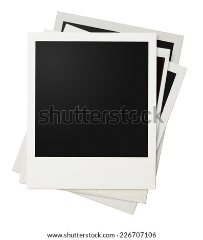 Polaroid photo frames isolated on white - stock photo