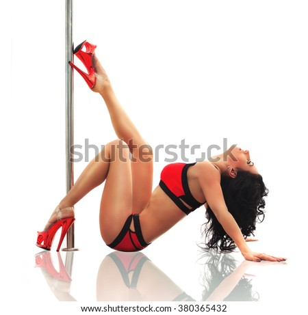 Pole dancing - stock photo