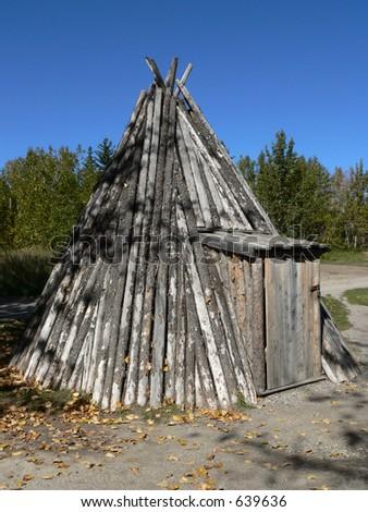 Pole Tepee - stock photo
