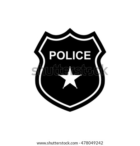 Police Officer Badge Icon Vector On 스톡 벡터 613493573 ...