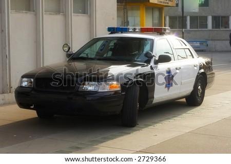 Police car - stock photo