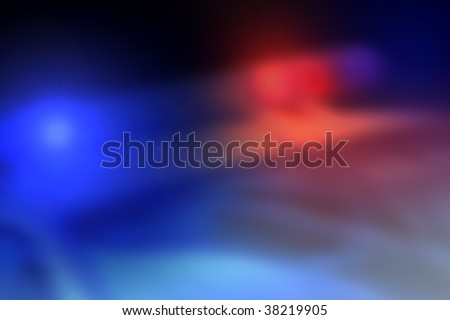 Police car light bar background in motion - stock photo