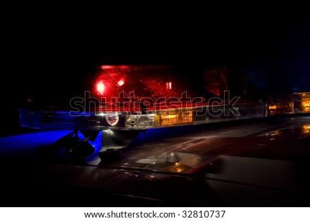 Police car lightbar - stock photo