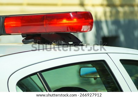 Police car lights - stock photo