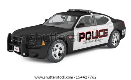 Police car. Sport and modern style. - stock photo