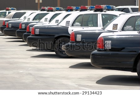 Police cars - stock photo